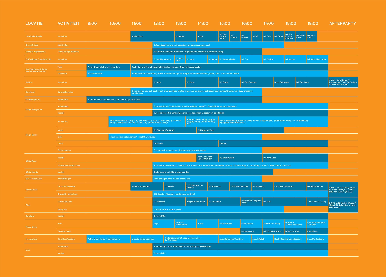 NDSM-Vrijhaven-2019-timetable